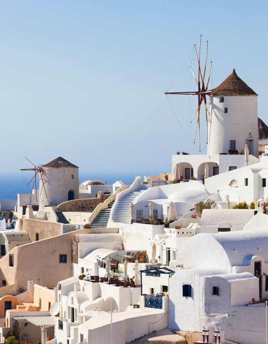 Travel photography image of a Greek city