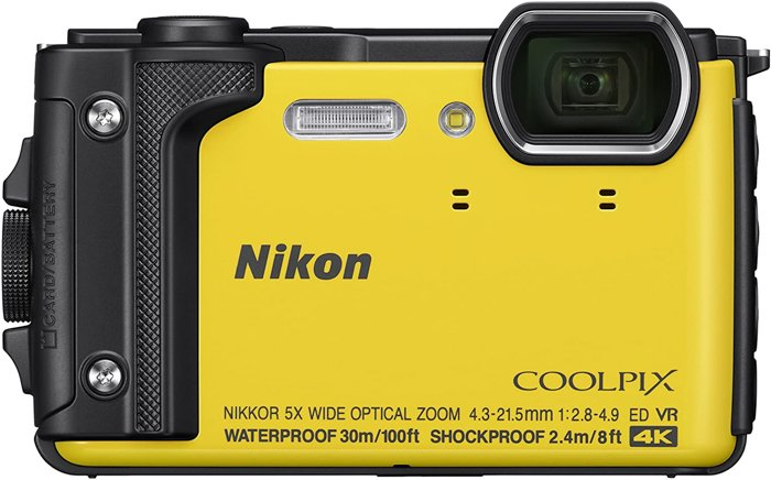 An image of the Nikon Coolpix W300 point-and-shoot camera