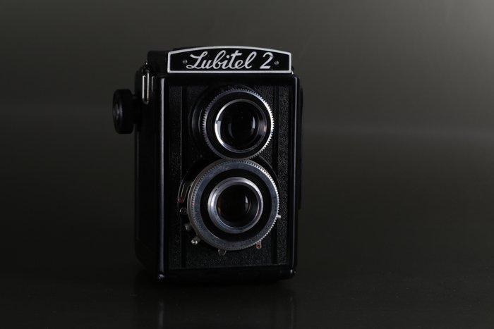 a photo of a Lubitel 2 Twin-Lens Reflex Camera
