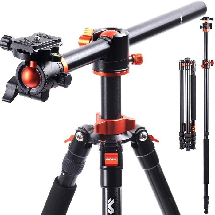 An image of the K&F Concept SA254T1 Camera Tripod for food photography