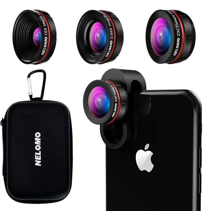an image of the Nelomo Universal Professional HD Camera Lens Kit