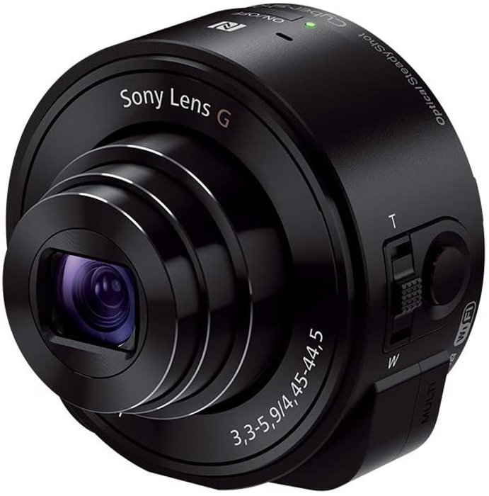 an image of a Sony DSC-QX10 telephoto lens for smartphone