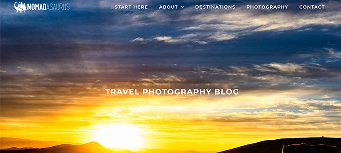 screenshot Nomadasaurus one of the best travel photography blog