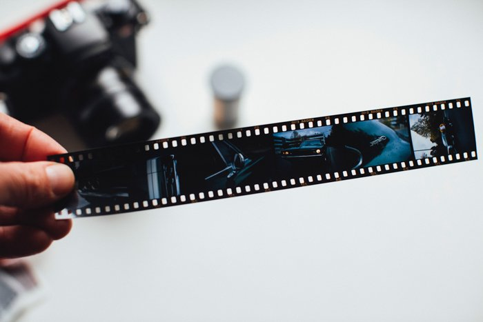 A picture of a 35mm film negative