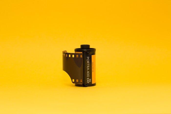 An image of a roll of 35mm Kodak film