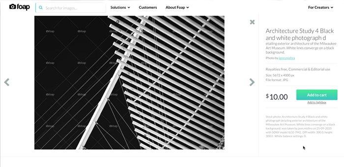 Screenshot of FOAP marketplace