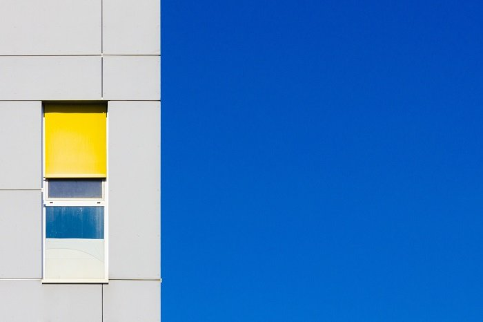 Minimalist architecture photo of the facade of a building