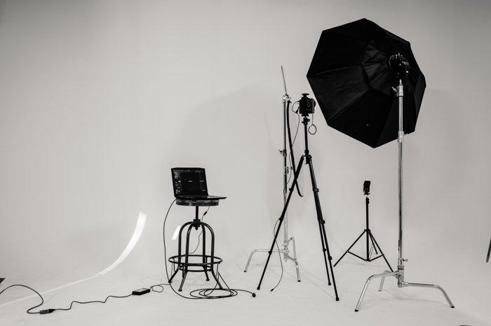 studio with umbrella