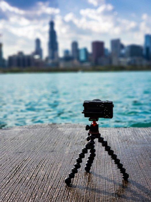 Portable travel tripod for small camera