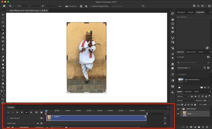 Photoshop screenshot video workspace
