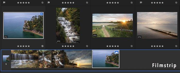 Screenshot Lightroom CC filmstrip