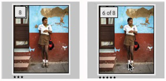 Screenshot stacking photos in lightroom with number