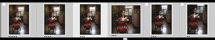 Lightroom screenshot filmstrip