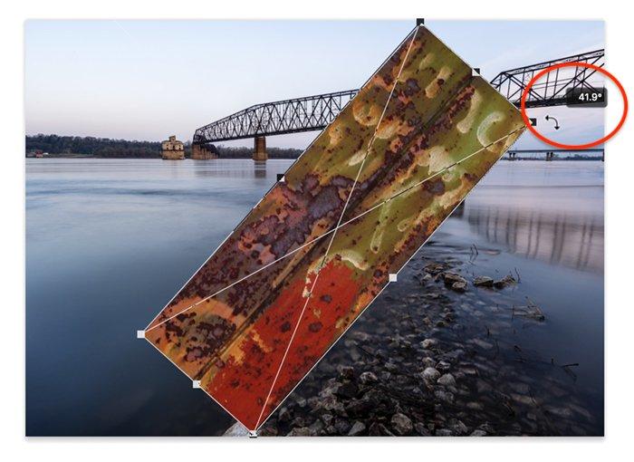Photoshop screenshot rotate layer