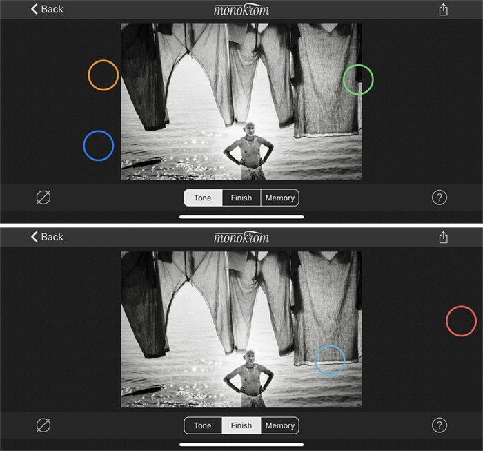 Screenshots Monokrom app Indian laundry
