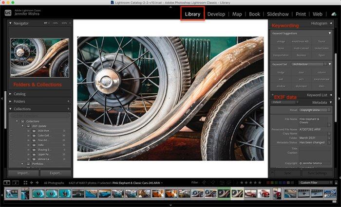 Screenshot lightroom classic library module