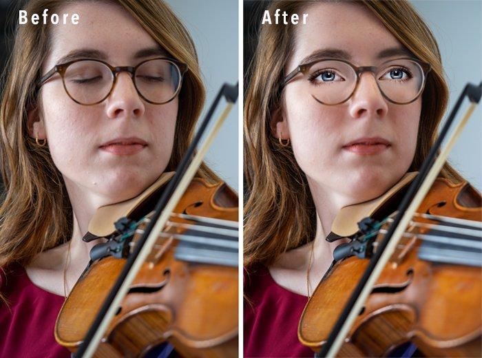 Comparison portrait Photoshop Elements