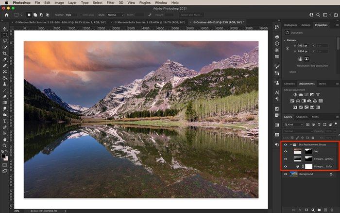 Photoshop screenshot showing new layers