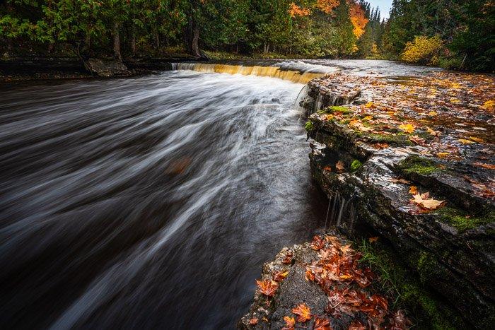 waterfall blurred water
