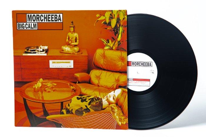 Morcheeba vinyl record on white background