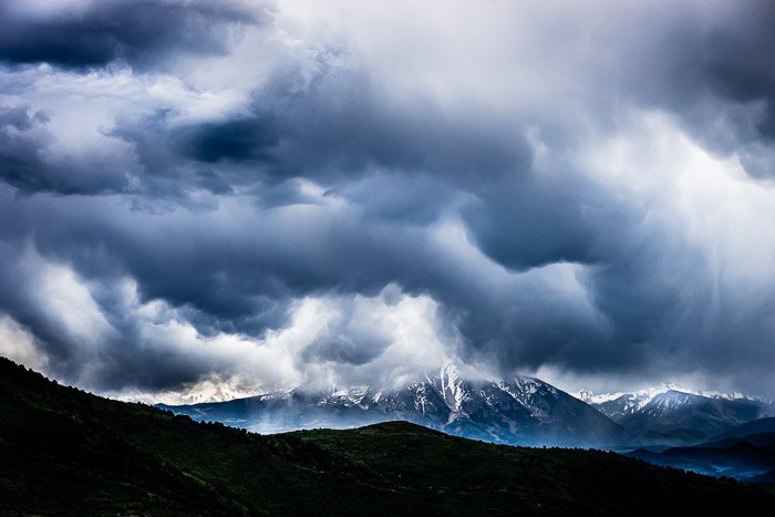 Storms over mountain taken with Sony a7 II camera