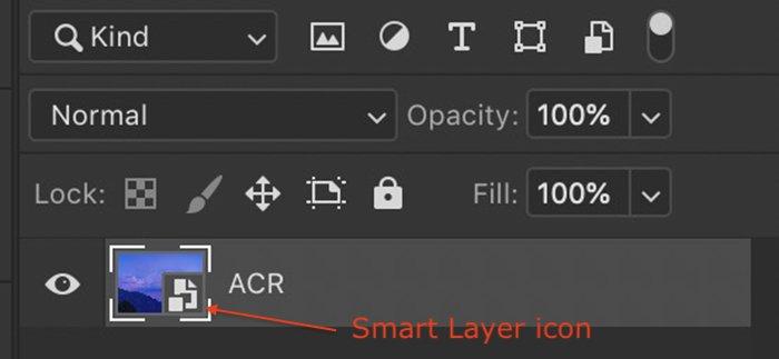 Screenshot photoshop smart object layer