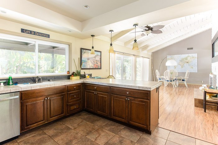 real estate photography of a kitchen