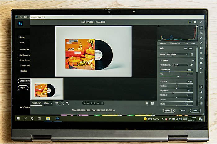 An image showing Photoshop's Camera Raw feature in use