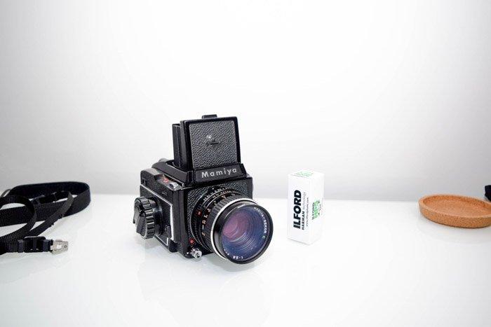 Mamiya medium format camera