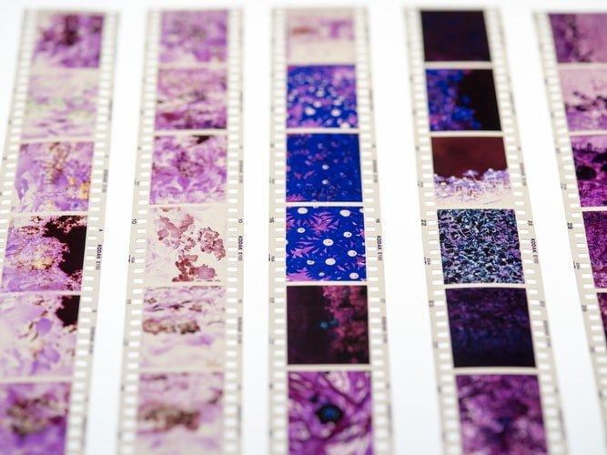 close up of rolls of film