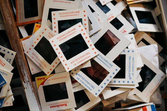 pile of kodachrome cards