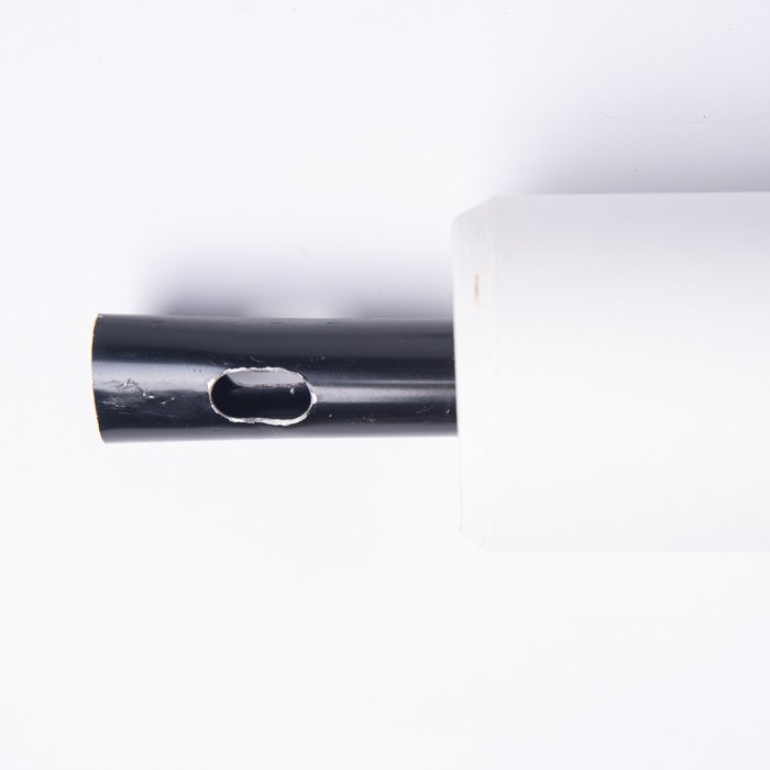 A small section of a seamless white paper roll