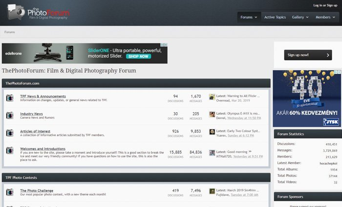 The Photo Forum screenshot