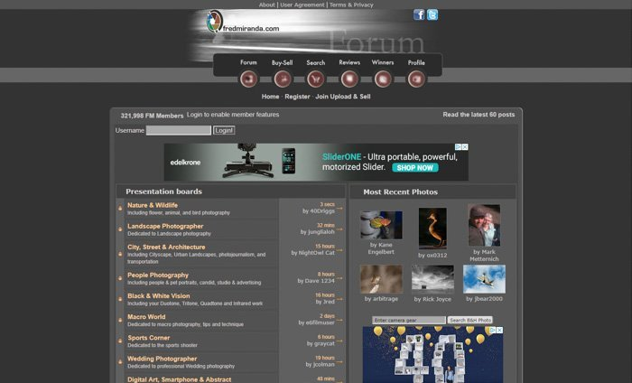 Fred Miranda Forum screenshot