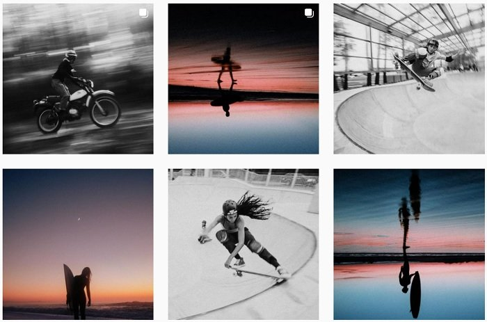 Screenshot of sports photographer teddy morellec instagram portfolio