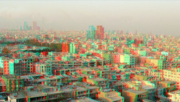 3D photo of buildings in the city of Tehran.