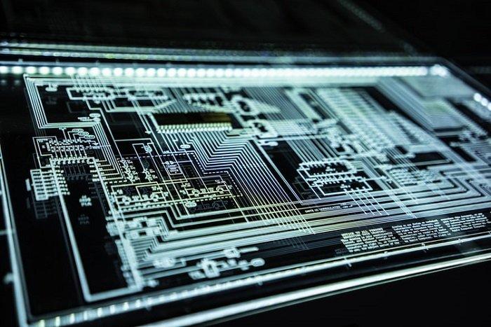 image of a futuristic laser printed circuit board
