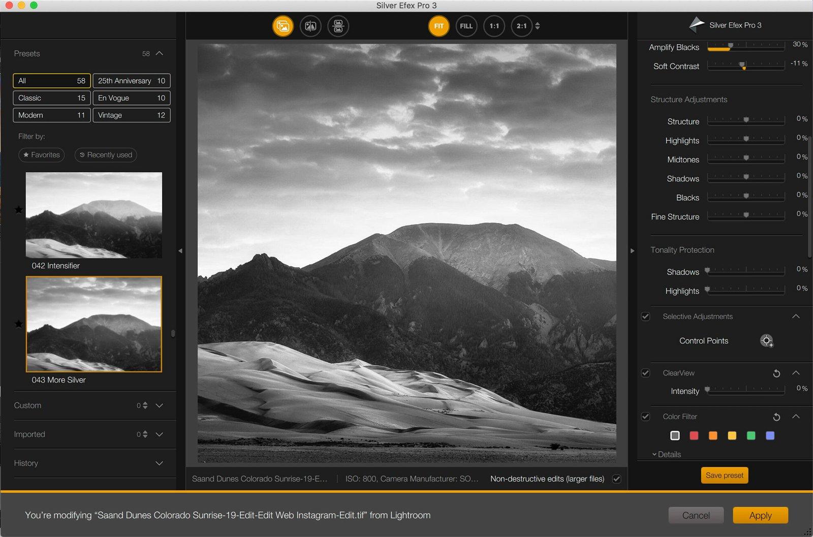 Nik Silver Efex Pro screenshot