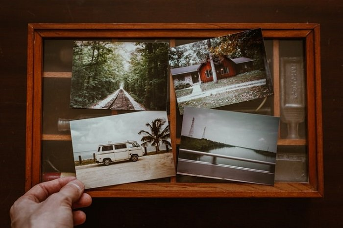 atmospheric photos printed and framed together