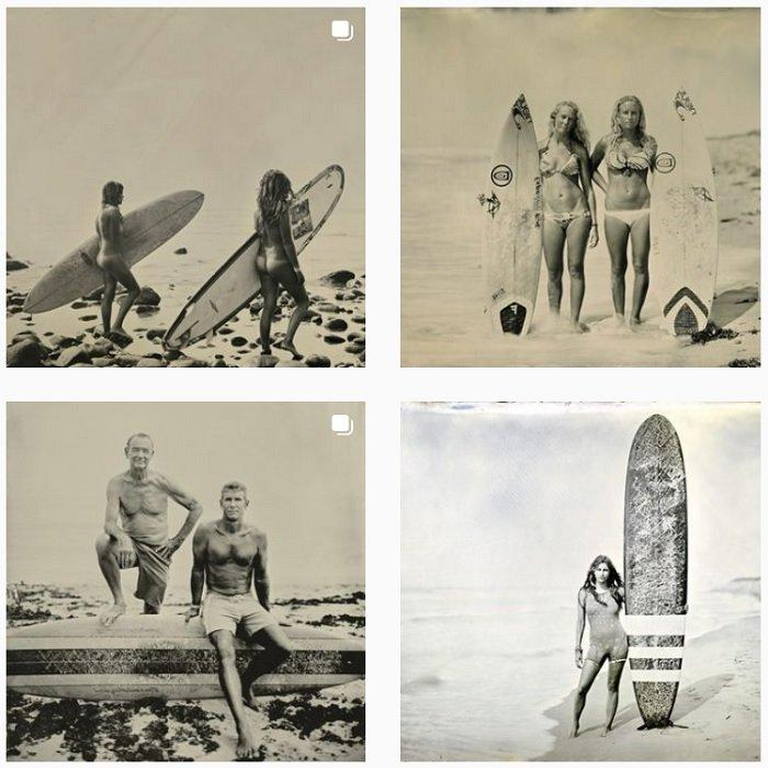 sample of Joni Sternbach's instagram portfolio of wetplate photography