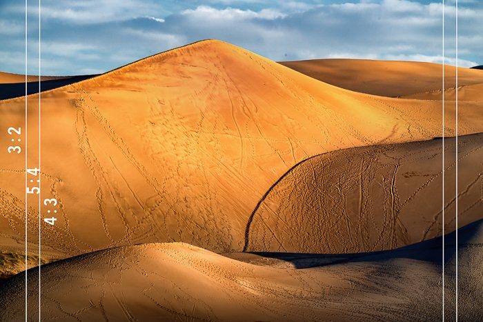 sand dunes rectangular aspect ratio
