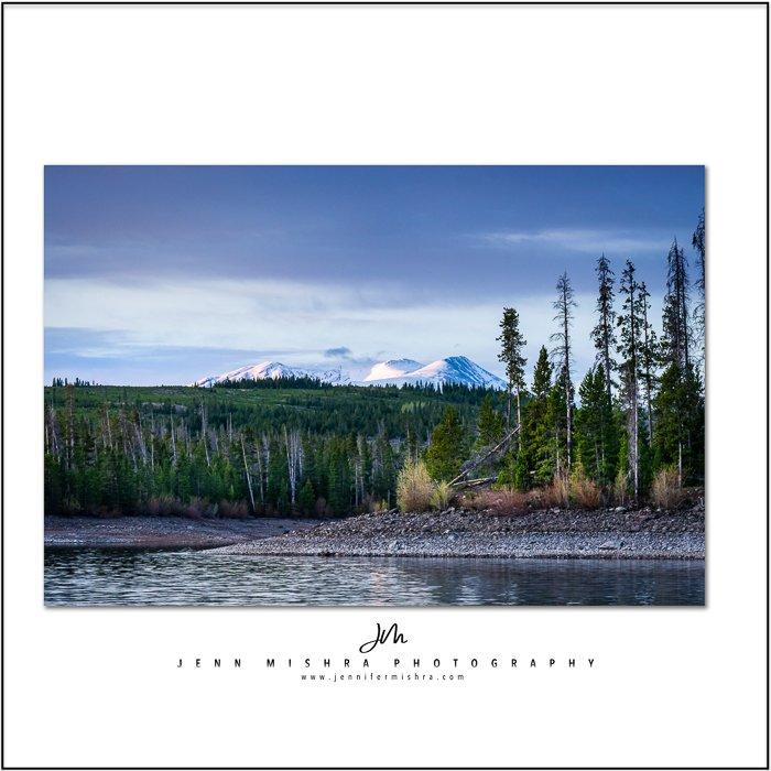 mountain scene white space frame