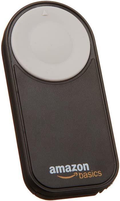 Amazon Basics infrared wireless remote control for cameras
