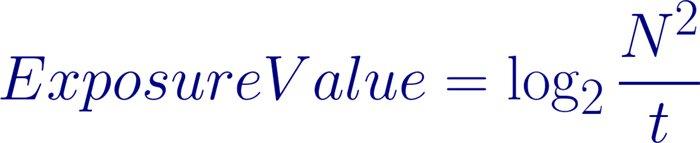 exposure value formula
