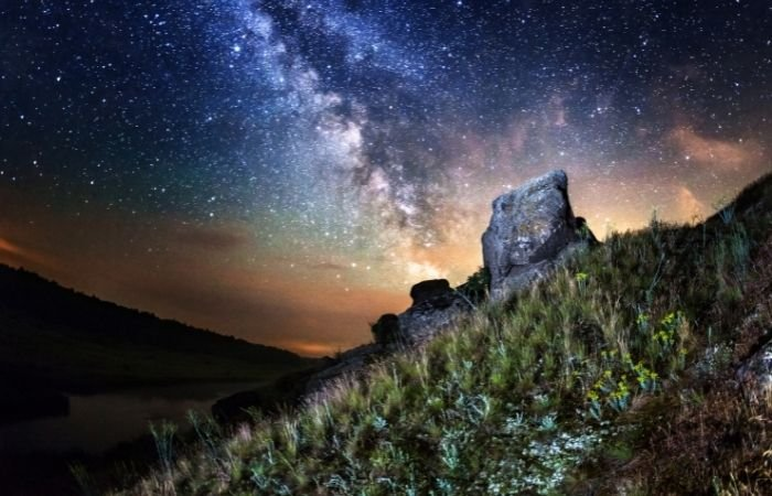 an image of the milky way