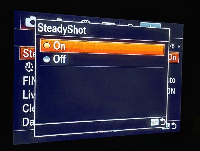 菜单Sony A7R3 SteadyShot