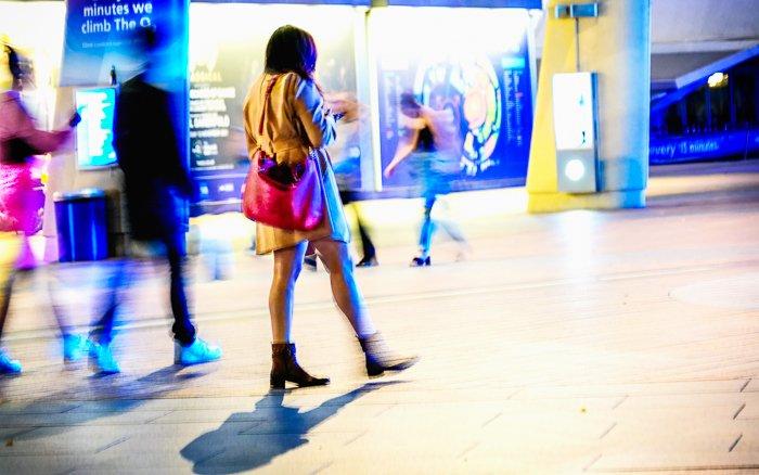 夜街摄影动态模糊