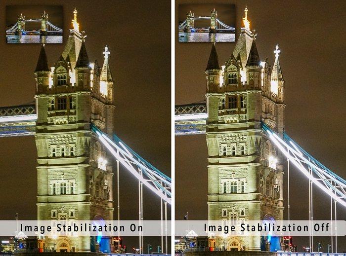 塔式桥梁图像稳定上和关闭