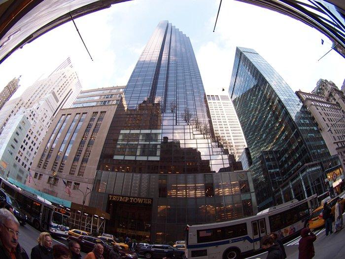 city fish eye lens