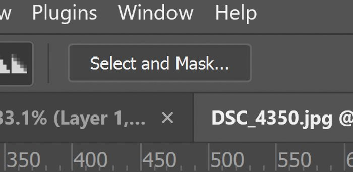 Closeup of select and mask button